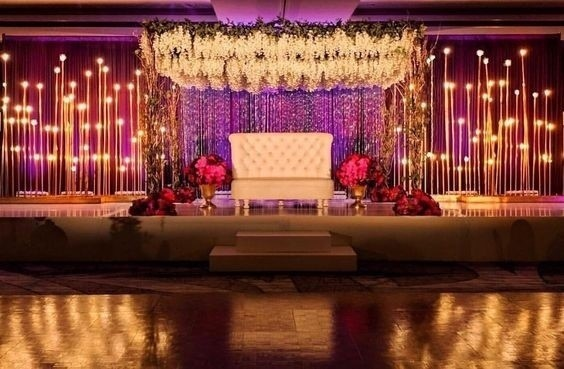 13 Amazing Stage Decoration Ideas For Your Reception   Pulchra